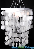 Chandelier Faux Capiz Shell