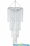"Chandelier ""Fifth Avenue"" Clear -  3 Feet Long x 16"" Wide"