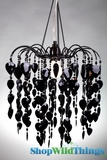 "Chandelier  Fountain  - Black  - 12"" x 13"""