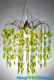 "Chandelier  ""Fountain""  Lime Green"