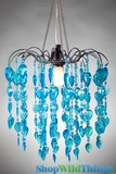 Chandelier Fountain - Blue Iridescent