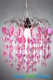 Chandelier Fountain - Pink Iridescent