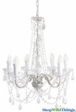 Chandelier Gypsy Clear - Large 6 Lights - With Plug