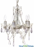 Chandelier Gypsy Clear - Small 5 Lights - With Plug