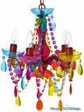 Chandelier Gypsy Multicolor - Small 5 Lights - Hardwire