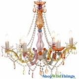 Chandelier Gypsy Pastels - Large 6 Lights - With Plug