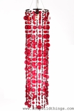 "Chandelier  ""Jasmine""  Red Discs & Red Diamante Duo Beads (3.5 ft Long)"