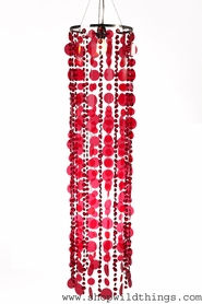 "Chandelier  ""Pussycat""  Red Discs & Red Diamante Duo 11"" x 3.5' Long"