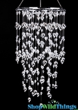 "Chandelier ""Mercury"" Steel & Acrylic 24"" Long"