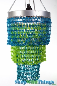 Chandelier Mini Pop - Blues & Green