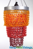 "Chandelier ""Mini Pop"" Orange Red"