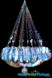 "Chandelier ""Neptune"" - Large 22"" x 2.5' Long  - Iridescent, Expanding"