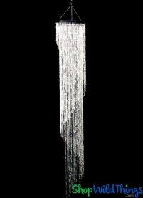 """Chandelier """"Party Swirl"""" - Crystal Iridescent - 7.2' Long (no light kit)"""