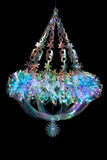 "Chandelier ""Rarity"" - Large 17"" x 2 Feet Long - Iridescent, Expanding"