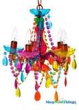 "Chandelier ""Samba"" - 5 Lights - Multi-Color Gypsy - 15"" x 11"""