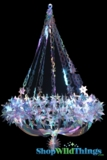 "Chandelier ""Starlight""  - Large 22"" x 2.5' Feet Long - Iridescent, Expanding"