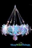 "Chandelier ""Sunshimmer"" - X Large 3 Feet x 3 Feet Long - Iridescent, Expanding"