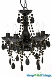 "Chandelier ""Tango"" - 5 Lights - Black Gypsy - 15 x 11"""