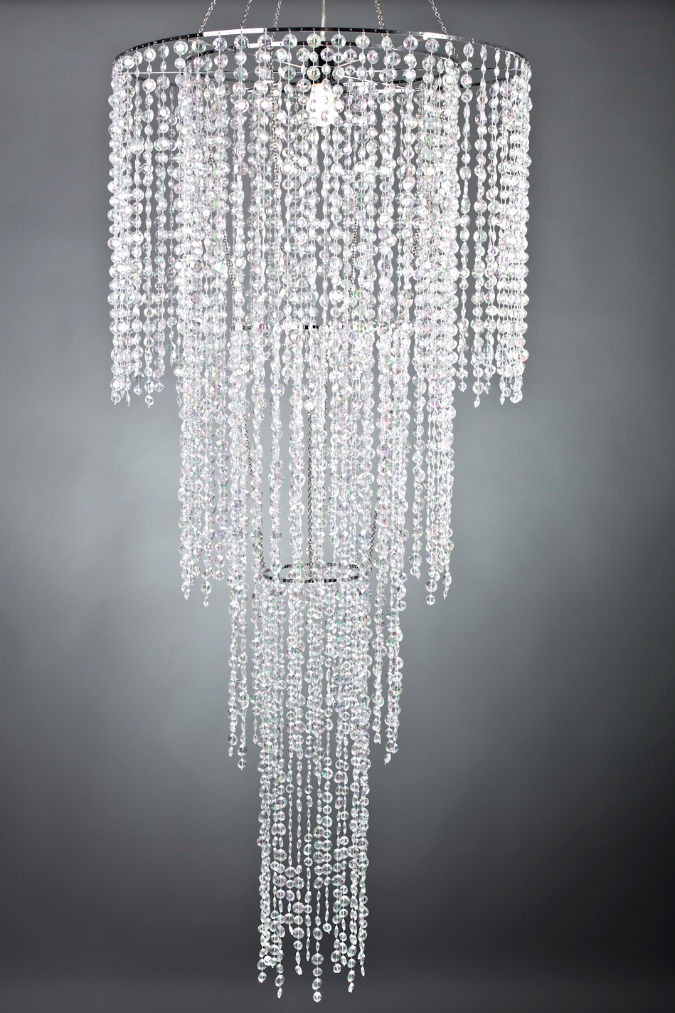 large 4 tier acrylic chandelier tent lighting and