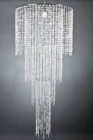 Chandelier Tiffany 4 Tier- Crystal Iridescent - 6 ft