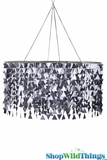 "Chandelier ""Trilogy"" Geometric PVC Graphite- Large 3' Diameter"