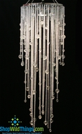 "Chandelier ""Vanessa"" with Floating Acrylic Drops"