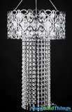 "Chandelier ""Veronica"" Filagree With Crystal Beads"