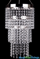 "Chandelier ""Whitney"" 3 Tier - Crystal"