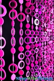 Circles Beaded Curtains - Multi Pink - 3 ft x 6 ft