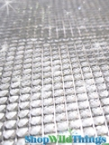 "Clear Diamond Adhesive Sheet - 10"" x 20"" - Trimmable"