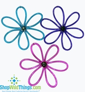 "CLEARANCE-Acrylic 9.5""  Tubular Flower Ornaments - 3 Colors Available"