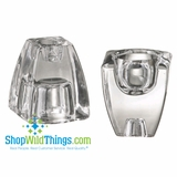 """CLEARANCE-""""Aurora""""  Reversible Taper or Tealight Holder - Glass"""