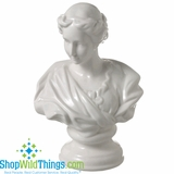 CLEARANCE-Baroque Bust, Porcelain - White