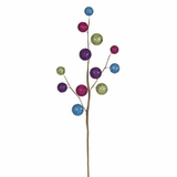 "CLEARANCE-Bright Metallic Glitter Balls 26"" Spray, Multi - Color"