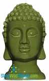 CLEARANCE-Buddha Decor Head Small - Forest Green