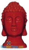 CLEARANCE-Buddha Decor Head Small - Red