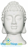 CLEARANCE-Buddha Decor Head Small - White