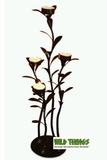 CLEARANCE-Candle Holder : Tabletop Iron Leaves, 4 Candles