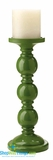 CLEARANCE-Candle Holder Triple Stack - Forest Green
