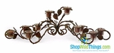CLEARANCE-Candleholder, Wrought Iron Vines & Leaves - 3 Feet Long!