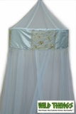CLEARANCE-Canopy, Embellished, Patchwork Crown - LIGHT BLUE