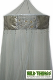 CLEARANCE-Canopy, Embellished, Patchwork Crown - LIGHT GRAY