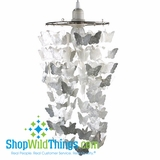 CLEARANCE-Capiz Shell Butterflies Chandelier - White