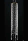 "CLEARANCE-Chandelier Acrylic Crystal  ""Clarissa""   - 5 Feet Long"
