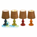CLEARANCE-Cork Shade Lil' Lamps, Set of 4