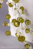 CLEARANCE-Crystal Beaded Garlands 4 Feet - Green and Crystal