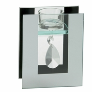 CLEARANCE-Crystal Drop Tealight Holder