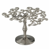"CLEARANCE  Curly Tree Pedestal Stand 11"" - Silver"