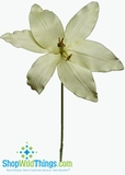 "CLEARANCE-Designer Lily Cream Flower - HUGE 17""  x 31"""