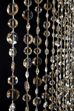 CLEARANCE - Diamante Duo Beaded Curtain - Champagne Non-Iridescent - 3 ft x 9 ft